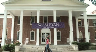 Thumbnail picture of Wesleyan College as the link to the video.