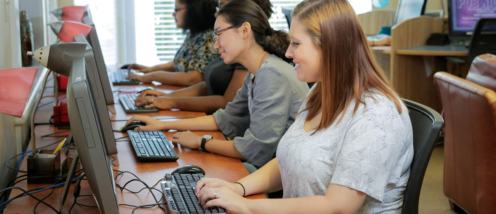 Students in computer lab.
