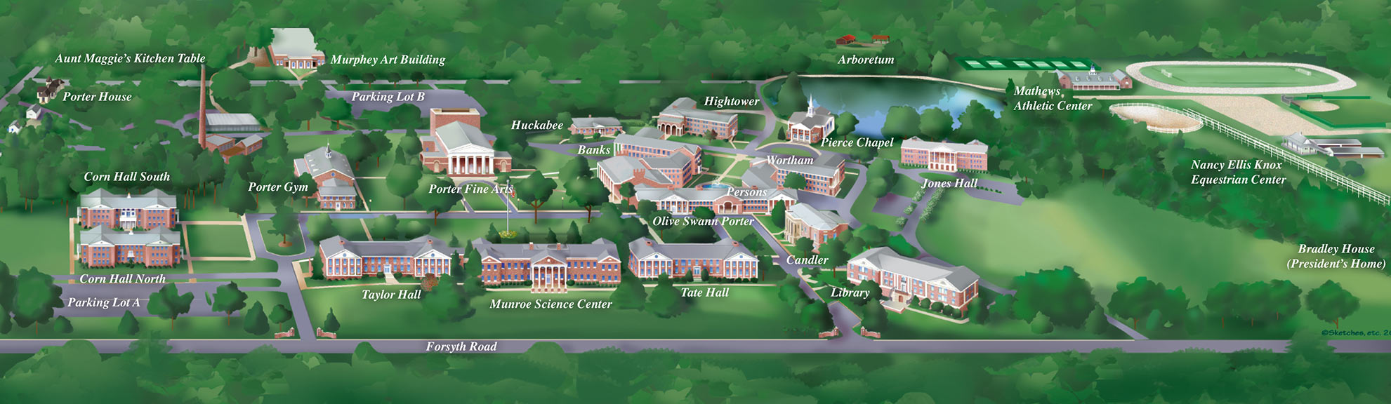 Image of Campus Map with titles of buildings.