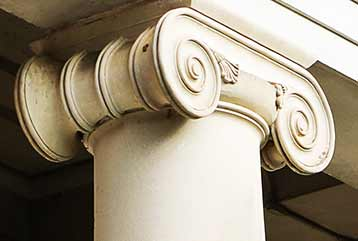 Close up image of Candler column.