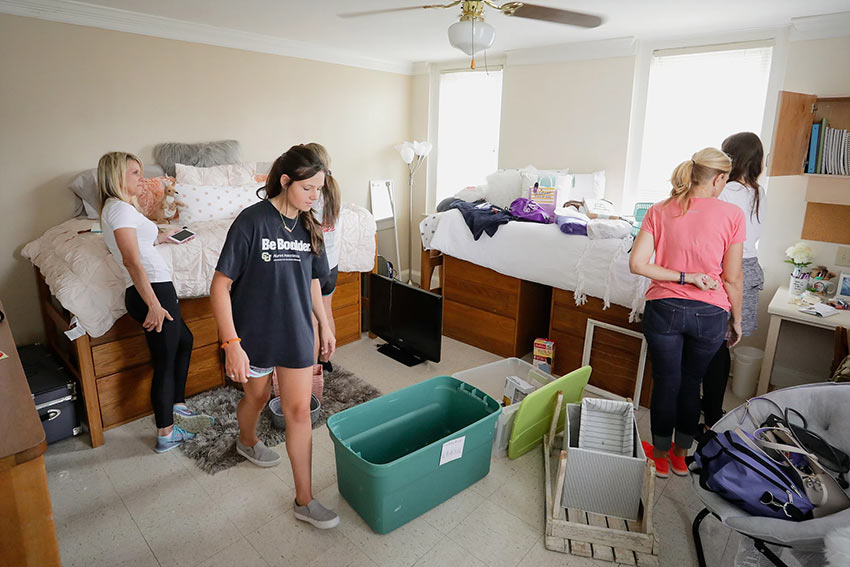 Students move in before school year starts.